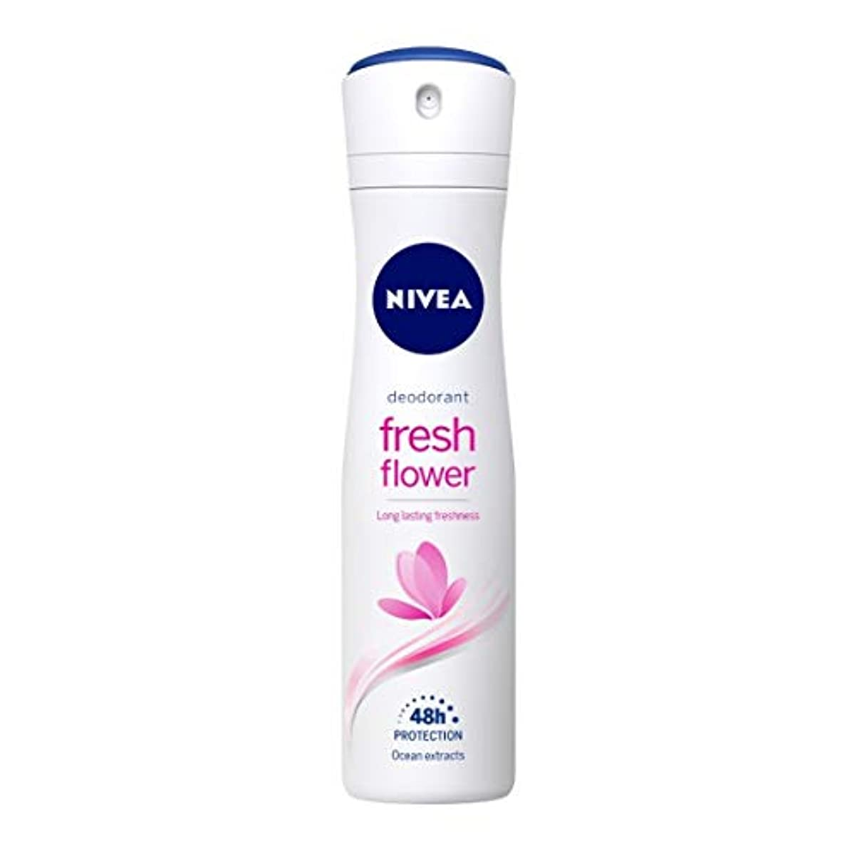 黒くする駅透けるNivea Fresh Flower Deodorant For Women, 150ml