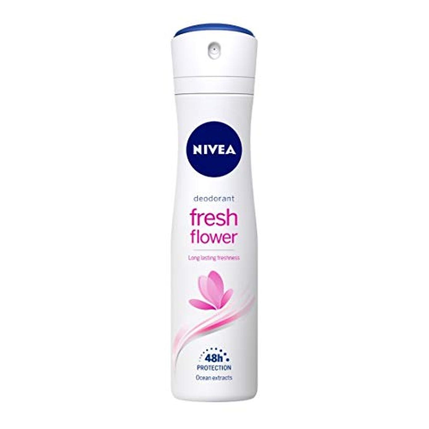 プラットフォームトリッキーお母さんNivea Fresh Flower Deodorant For Women, 150ml