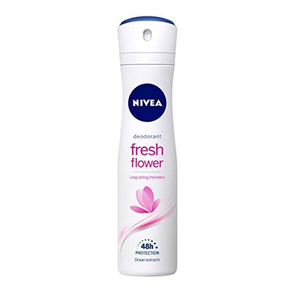 滅びる援助太鼓腹Nivea Fresh Flower Deodorant For Women, 150ml