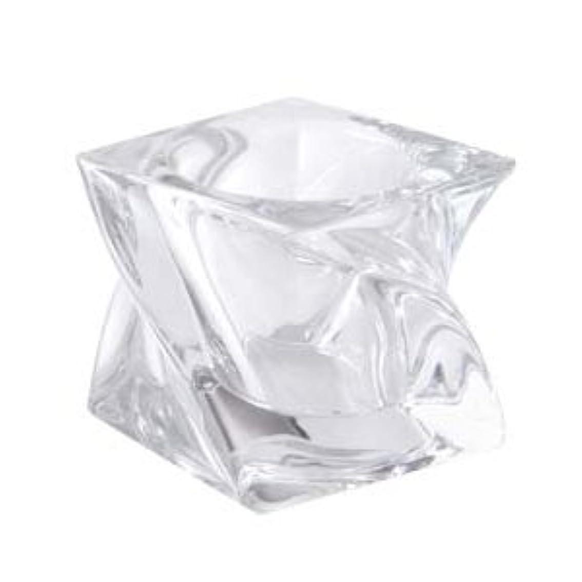 ふさわしいテーブル頻繁にキャンドルグラス スクエアツイスト