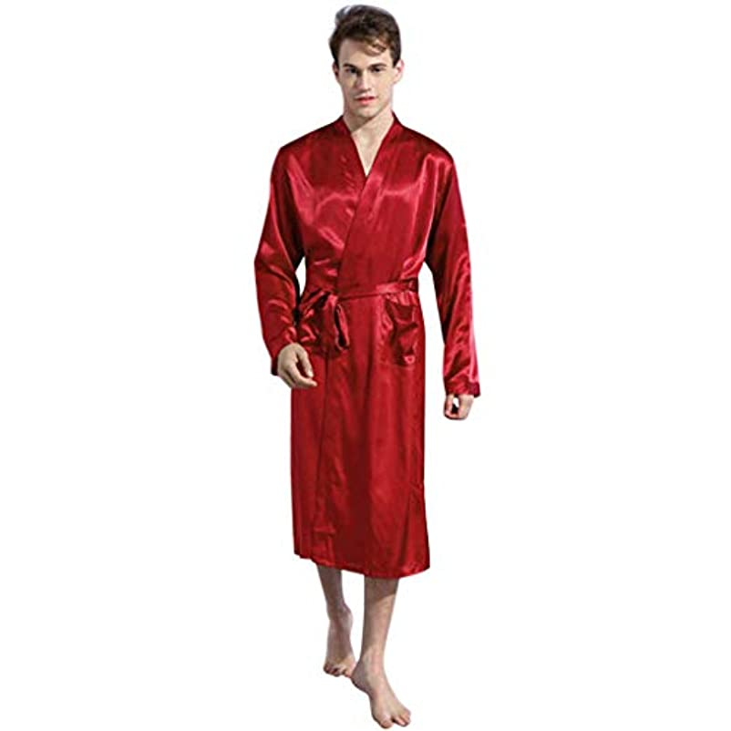 無本会議中世のバスローブ BOBOGOJP メンズ 旅行 デーリー パジャマ セクシーな シャワーガウン ローブ ガウン 柔らかい なめらか 部屋着 優しい肌触り ナイトドレス ルームウェア ホテル 温泉 サウナ 彼氏プレゼント