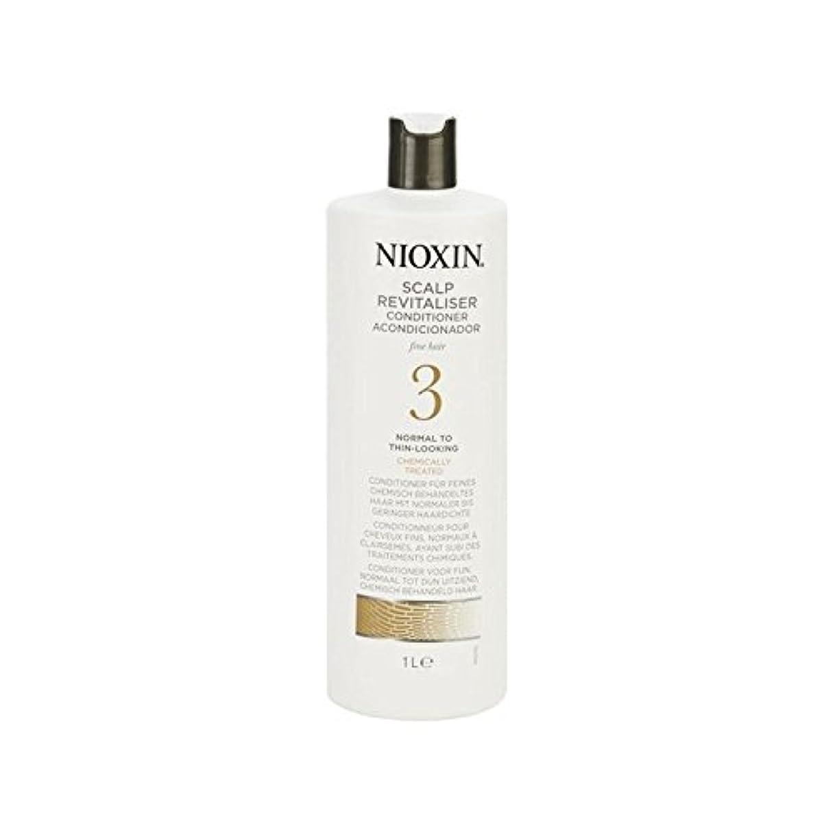 鎮静剤北東とは異なり薄く、化学的に処理された毛髪の千ミリリットルに、通常の罰金ニオキシンシステム3頭皮コンディショナー、 x4 - Nioxin System 3 Scalp Revitaliser Conditioner For Fine...