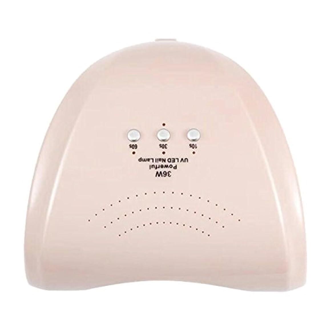 靴下判定ホールドLa Curie 36W LED&UVネイルライト CCFL不使用 自動センサー ジェルネイル レジン 6ヶ月保証&日本語説明書&プロネイリスト監修ネイルレシピ付き 全9色 (パールピンク) LaCurie004