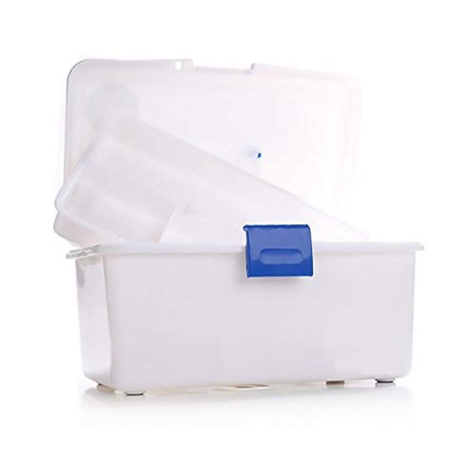 発見する失礼な警察ZHILIAN& ホーム緊急キットホワイト環境プラスチック薬箱ポータブル大容量多機能収納ボックスツールボックス