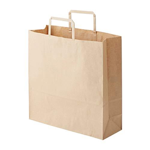 ヘイコー 手提 紙袋 平手紐 H25CB 3才 未晒 クラフト 32x11.5x32cm 50枚