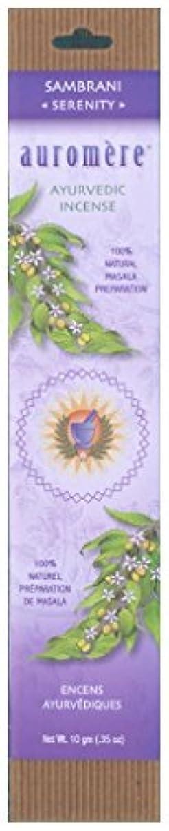 達成可能郵便物ソーセージAuromere Ayurvedic Incense、Sambrani (Serenity)