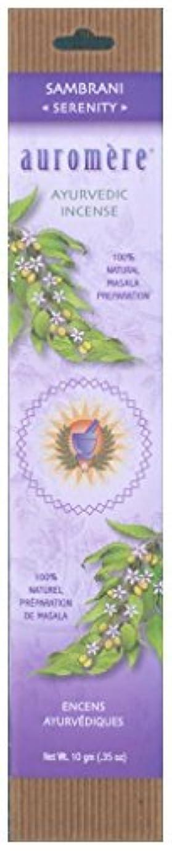 スクリーチ突撃消化器Auromere Ayurvedic Incense、Sambrani (Serenity)