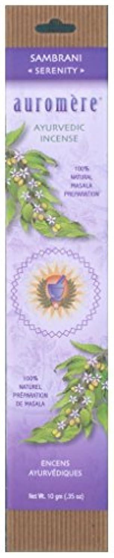 大型トラックアラーム気質Auromere Ayurvedic Incense、Sambrani (Serenity)