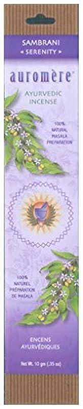 被害者飛ぶ歯科医Auromere Ayurvedic Incense、Sambrani (Serenity)