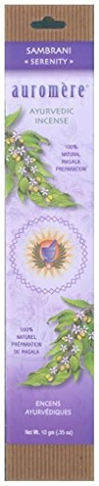 無限チェスをする器官Auromere Ayurvedic Incense、Sambrani (Serenity)