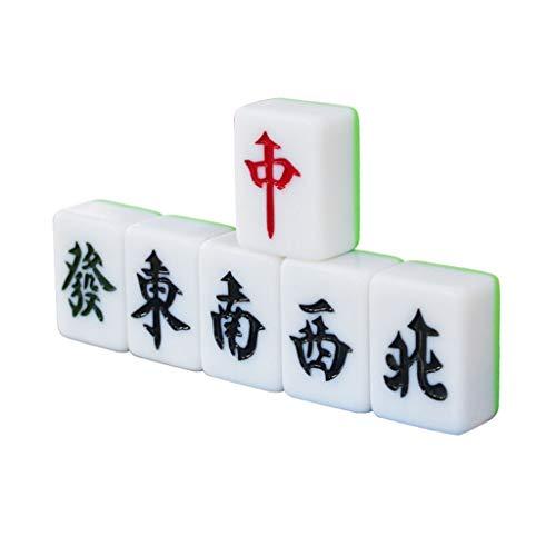 STAR-TOY 大人の家族の集まりのおもちゃコレクションギフト麻雀セット、136タイル麻雀ホームクラブセットの繁体字中国語レタリング (Size : 44#)