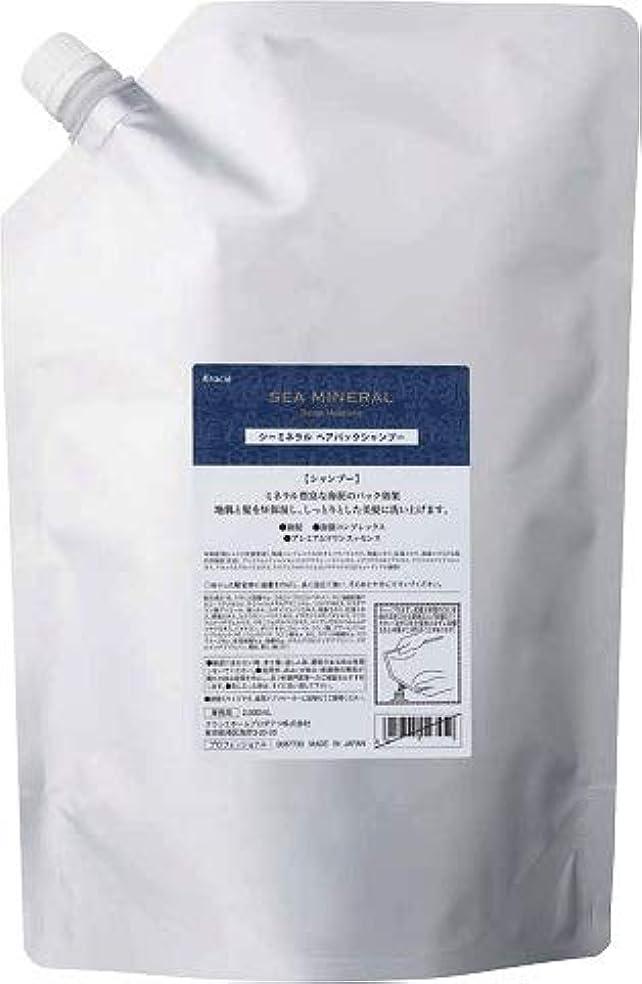 絶望的なアシスタント銅kracie(クラシエ) SEA MINERAL シーミネラル シャンプー 2000ml 詰替え 容器1本サービス