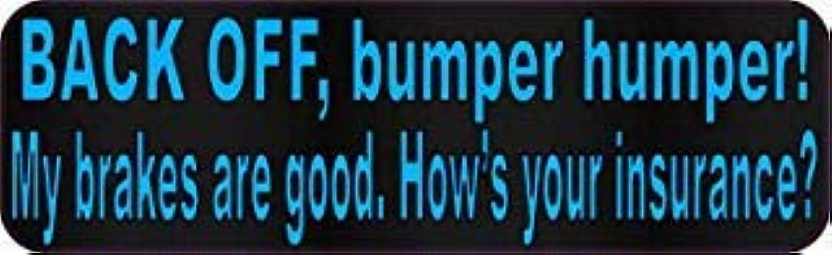 デイジージャンルマチュピチュStickerTalk 10in x 3in Blue Dot Back Off Bumper Humper Magnets Vinyl Truck Magnetic Sign [並行輸入品]