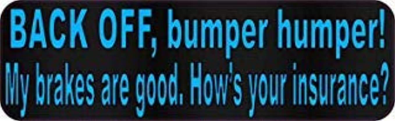 明日アーク完全にStickerTalk 10in x 3in Blue Dot Back Off Bumper Humper Magnets Vinyl Truck Magnetic Sign [並行輸入品]