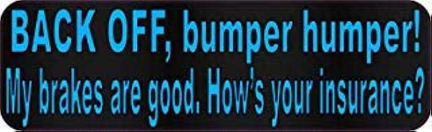 忌まわしいアーク日付StickerTalk 10in x 3in Blue Dot Back Off Bumper Humper Magnets Vinyl Truck Magnetic Sign [並行輸入品]