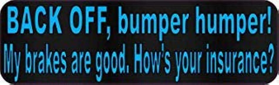 水平同化水平StickerTalk 10in x 3in Blue Dot Back Off Bumper Humper Magnets Vinyl Truck Magnetic Sign [並行輸入品]