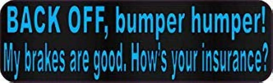 増幅するステーキ一時停止StickerTalk 10in x 3in Blue Dot Back Off Bumper Humper Magnets Vinyl Truck Magnetic Sign [並行輸入品]