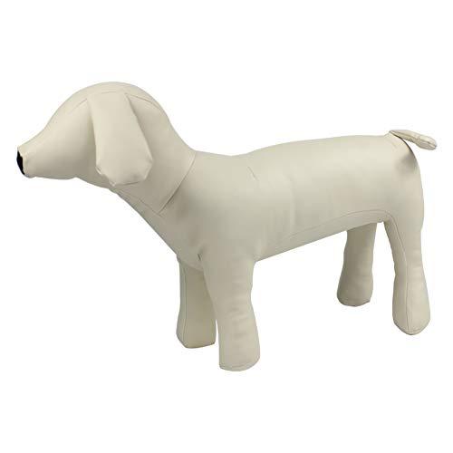 Pawstrip 犬トルソー ペットトルソー 犬型 マネキン PUレザー 展示用 ペットおもちゃ (ホワイト,M)