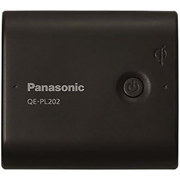 パナソニック モバイルバッテリー 5,400mAh 無接点充電(Qi)対応 USBモバイル電源 ブラック QE-PL202-K