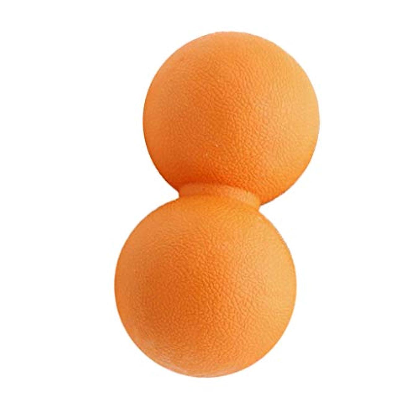 旅行者狂気リーズ全2色 マッサージボール ピーナッツ ツボ押しグッズ 疲れ解消ボール 筋膜リリース 筋肉疲労回復 - オレンジ, 13cm