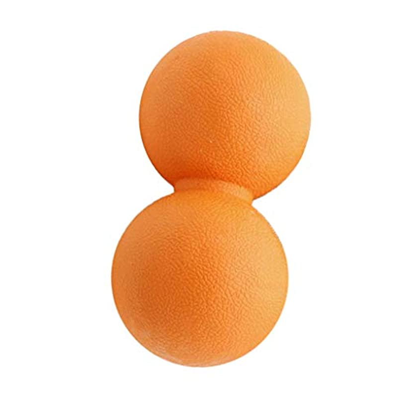 処理する明示的に値下げ全2色 マッサージボール ピーナッツ ツボ押しグッズ 疲れ解消ボール 筋膜リリース 筋肉疲労回復 - オレンジ, 13cm
