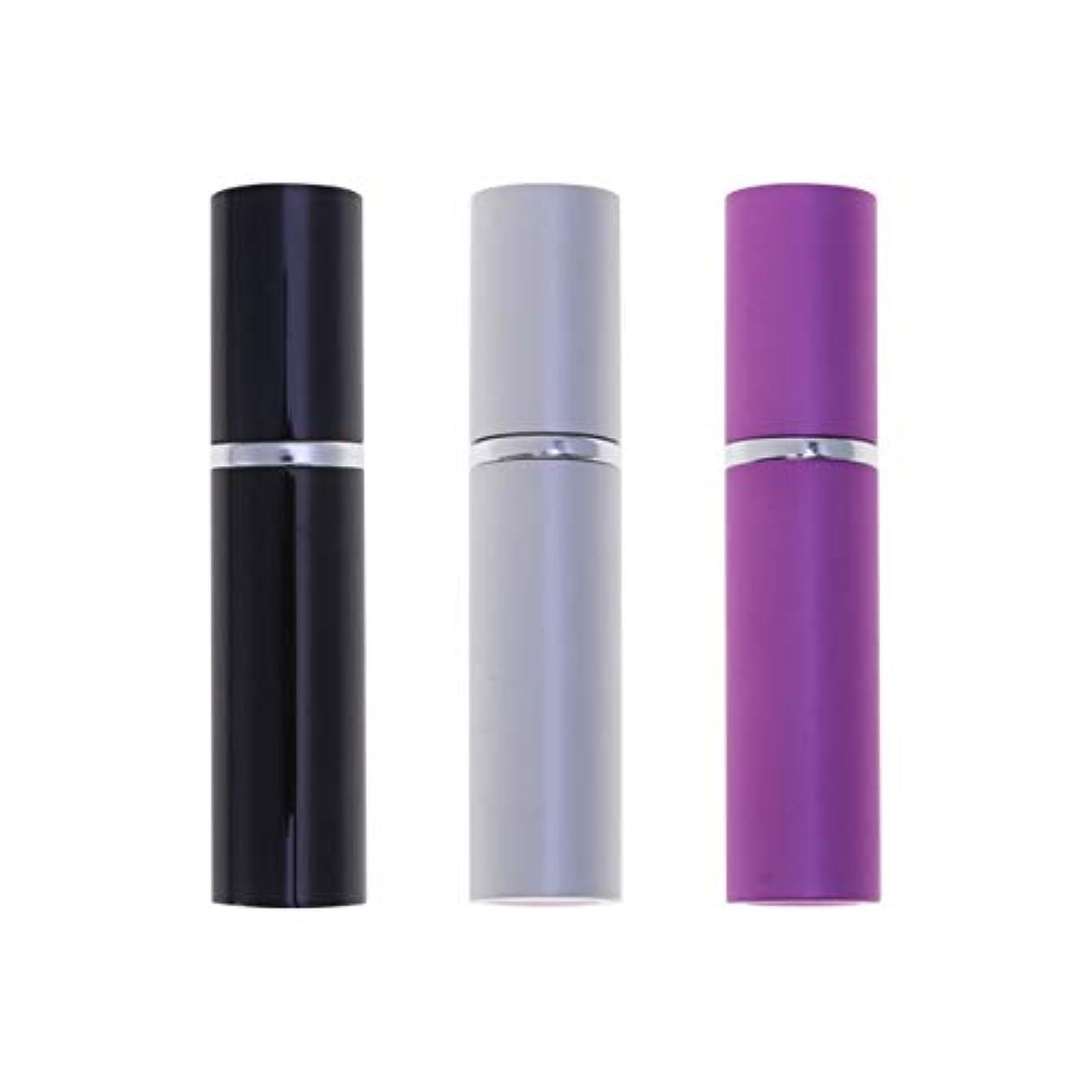 シネマ確かめる葬儀Healifty 3pcsの女性の男性のための詰め替え香水アトマイザーボトルアルミ空の香水の容器スプレー屋外トラベル旅ツアー5ミリリットル(黒パープルシルバー)