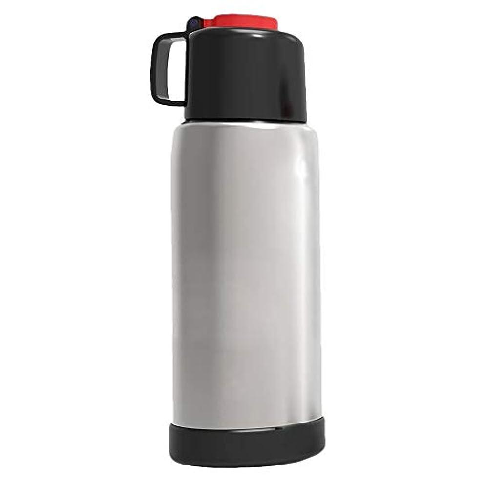 フィドルそうでなければ頼る大型スポーツウォーターボトル 2.2リットル BPAフリー プラスチック 軽量 巨大 水筒 漏れ防止 大容量 ウォータージャグコンテナ キャリーループ付き フィットネス キャンプ ハイキング ジム用 (ブラック)