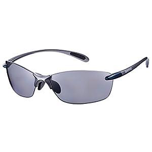 SWANS(スワンズ) スポーツ 偏光 サングラス エアレス リーフ フィット 偏光レンズ モデル SALF-0051 BLGM マットガンメタリック×ダークガンメタリック