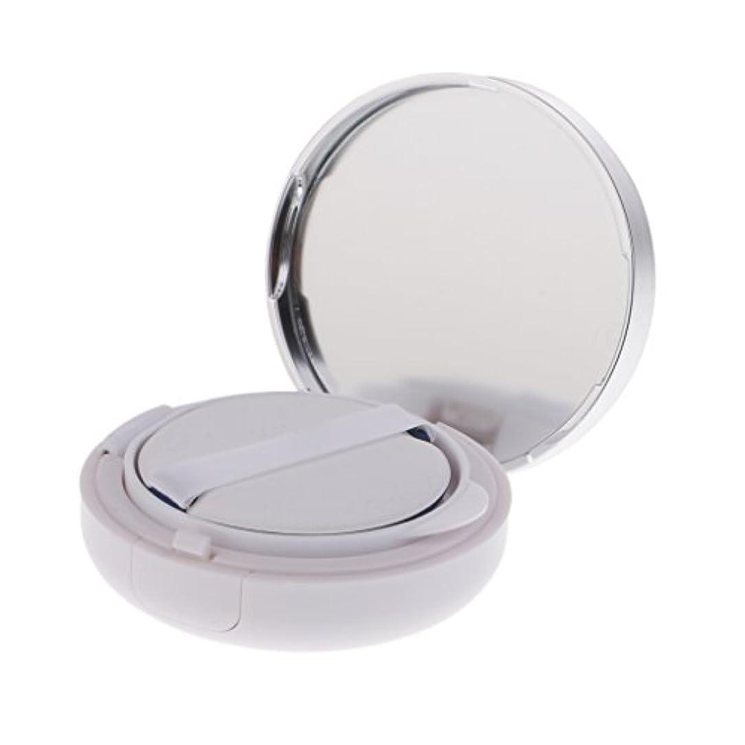オゾン通知するマングルFenteer メイクアップパウダーコンテナ 空ファンデーションケース メイクパウダー エアクッション パフ BBクリーム 容器 15g 2色選べる - 銀