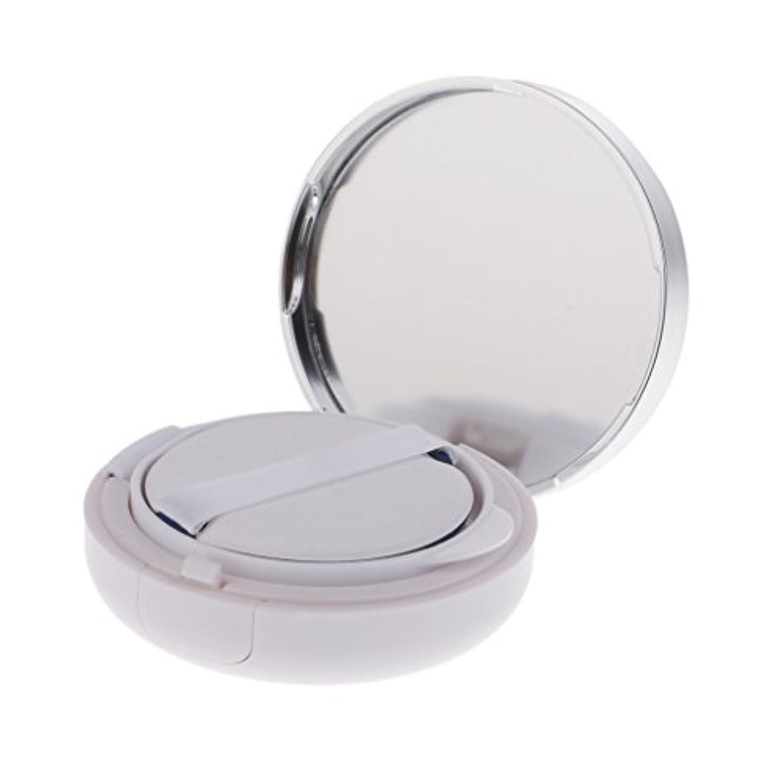 拮抗するラグハドルFenteer メイクアップパウダーコンテナ 空ファンデーションケース メイクパウダー エアクッション パフ BBクリーム 容器 15g 2色選べる - 銀