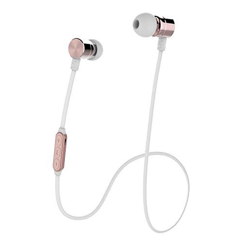 ブルートゥース イヤホン 高音質 Bluetooth イヤホン ワイヤレス ヘッドホン IPX5防水 マグネット搭載 CVC6.0ノイズキャンセリング マイク付き ハンズフリー通話 スポーツ仕様 iphone/ipad/android/pcなど対応 By Sharllen