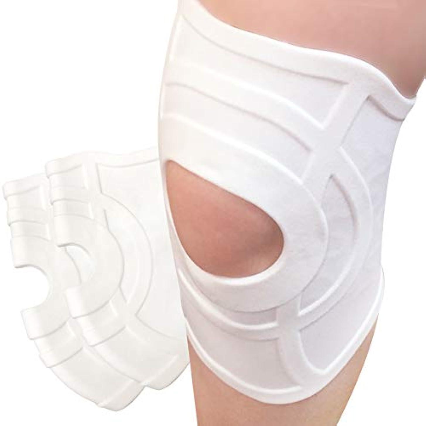 受粉する政治家の引き渡す薄くて伸びる やわらか膝サポーター 左右兼用 防水 高齢者用 (フリーサイズ2枚組)