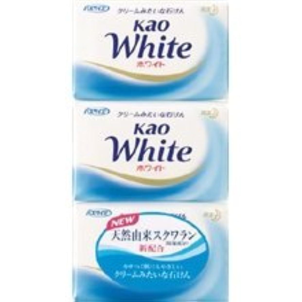 恐れ真っ逆さま追放する【花王】花王ホワイト バスサイズ (130g×3個) ×20個セット