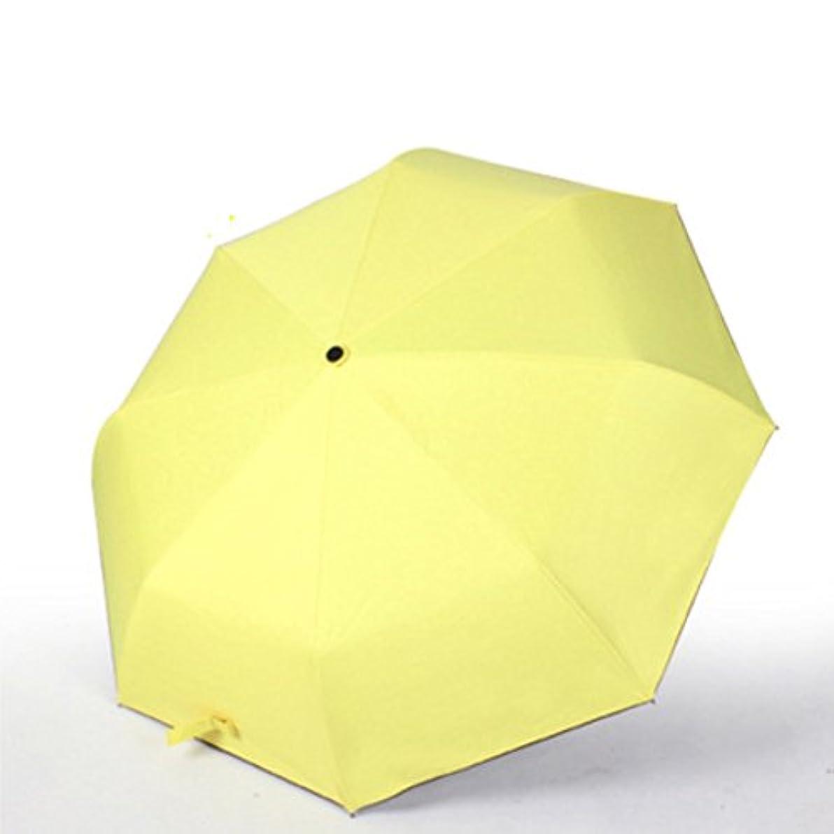 敬意畝間関係する折り畳み傘 日傘 UVカット レディース 晴雨兼用 超遮光 紫外線カット 遮熱 涼しい 丈夫 耐風撥水 (イエロー)
