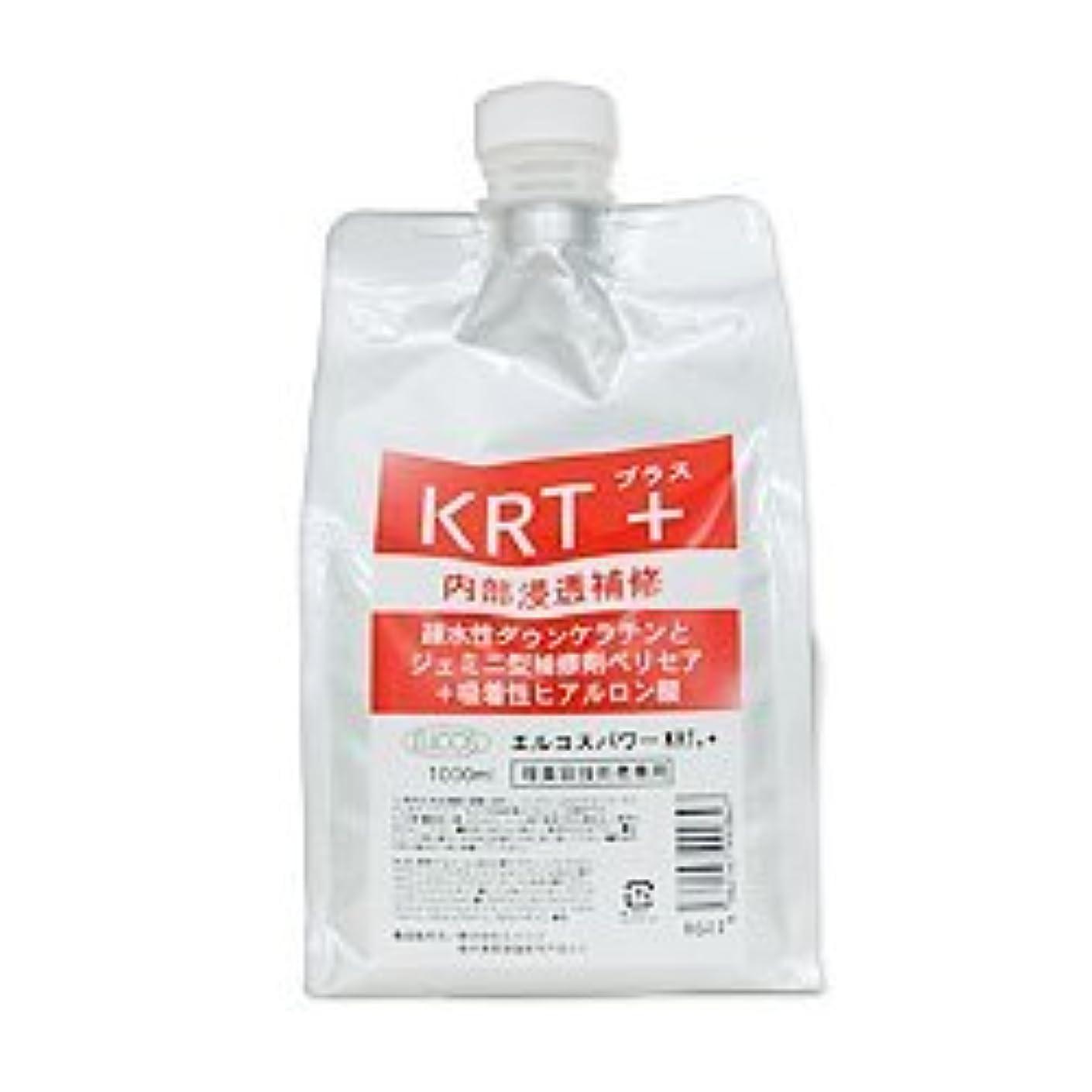 遅れドラフト印刷するエルコス パワー KRT+ 1000ml(詰替用)(トリートメント)