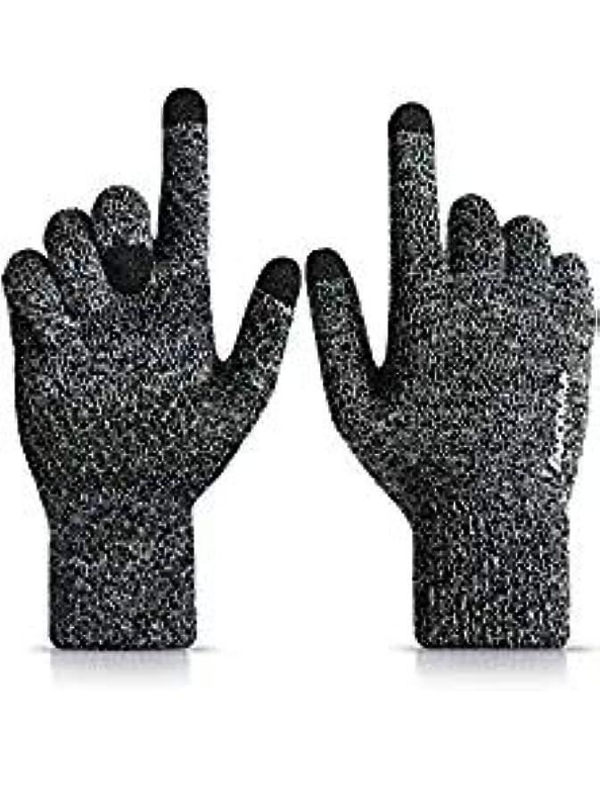 はねかける言語学アクセス男性と女性のための冬のタッチスクリーン手袋 - 暖かい柔らかいライニング - 滑り止めグリップ - 伸縮性カフ