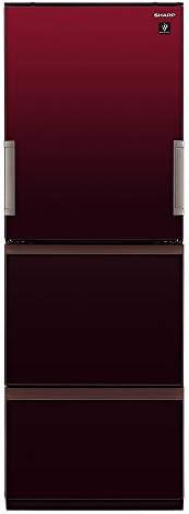 シャープ SHARP プラズマクラスター冷蔵庫(幅60.0cm) 350L 3ドア(両開き・どっちもドア) グラデーションレッド SJ-GW35F-R