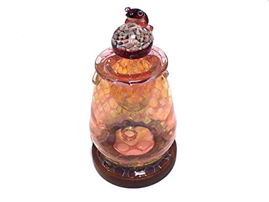 驚くばかり価格ウイルス『 アロマポット Frog on a Mshuroom 四 (台付き)』【 kengtaro ケンタロー 】 キノコ カエル 一点もの ボロシリケイトガラス 職人 作家 蛙 かえる フロッグ 高級 お香 リラックス