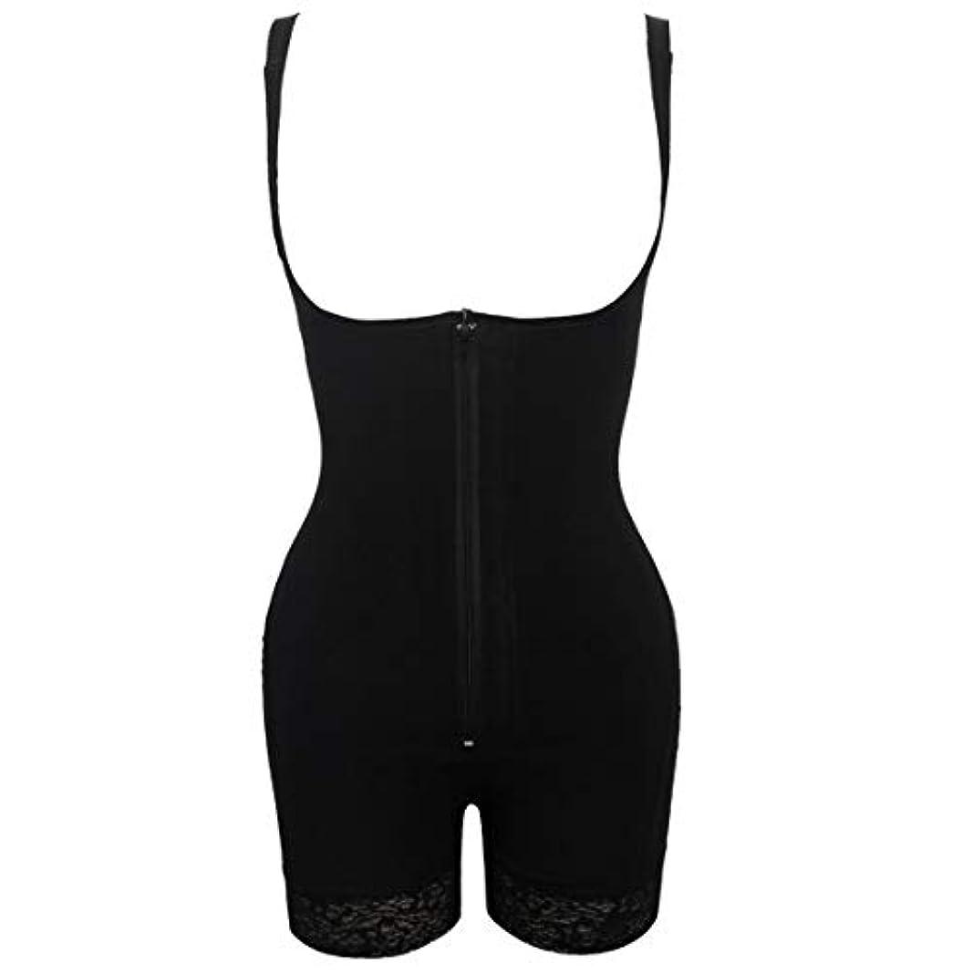 織る宣伝隔離するプラグサイズ女性スリムアンダーウェアボディスーツシェイプウェアレディーアンダーバストボディシェイパー ランジェリープラスサイズウエストトレーナー-ブラック-S