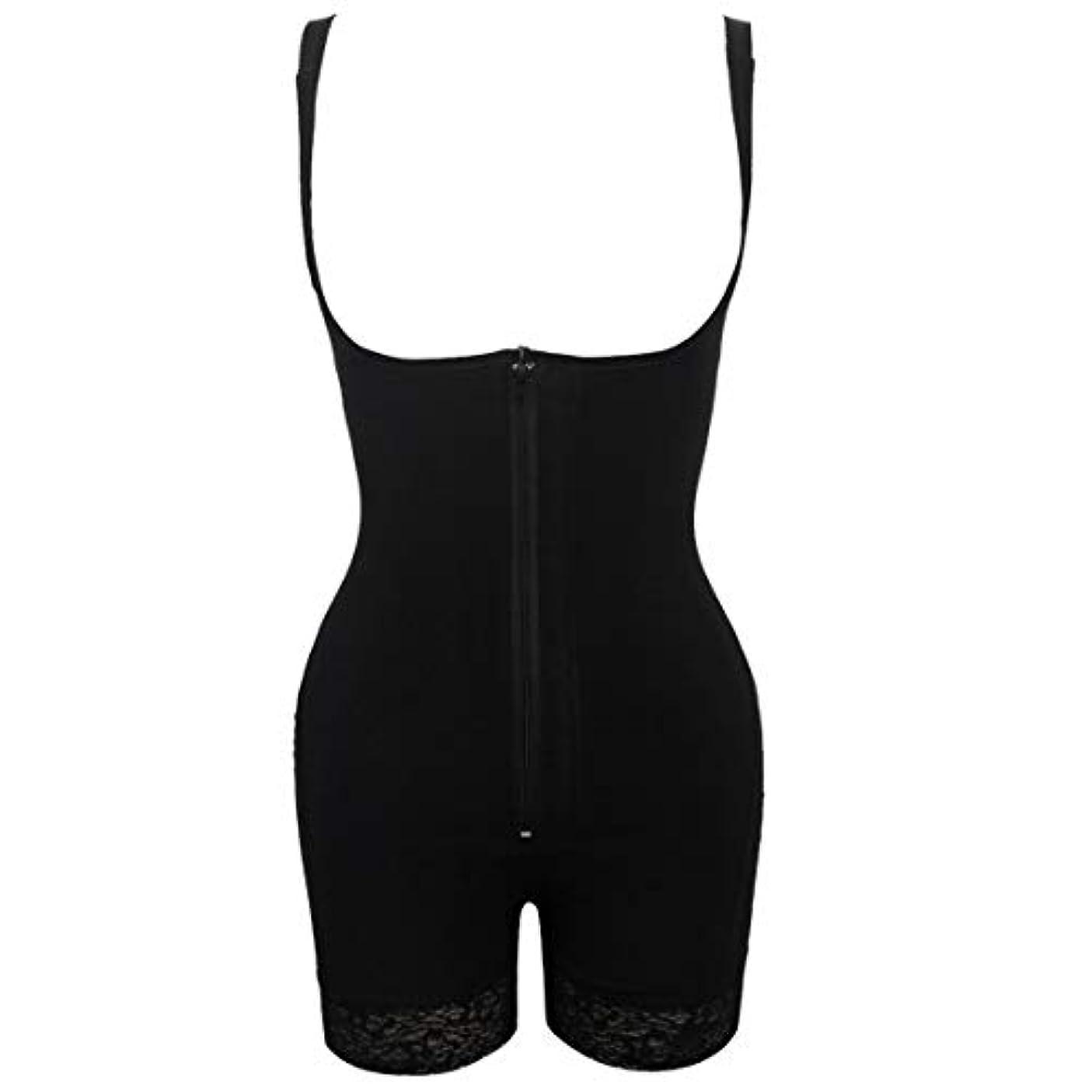 気を散らす通訳願望プラグサイズ女性スリムアンダーウェアボディスーツシェイプウェアレディーアンダーバストボディシェイパー ランジェリープラスサイズウエストトレーナー-ブラック-S