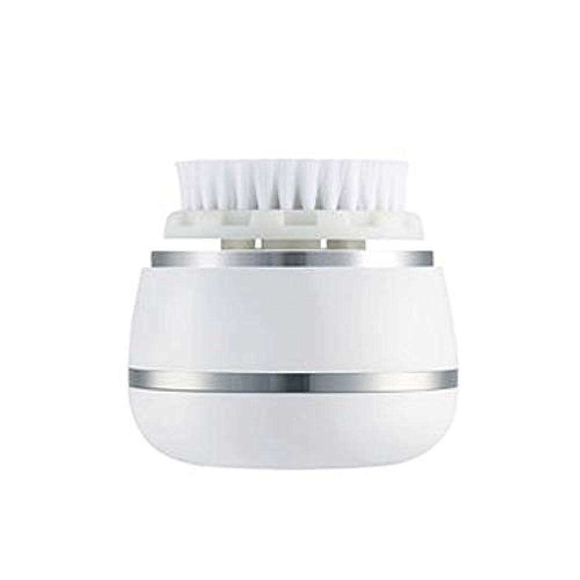 第三チューリップセンチメートルHEHUIHUI- クレンジングブラシ、防水ディープクレンジングポア、電気剥離、にきび、アンチエイジングクレンジングブラシ(ホワイト)