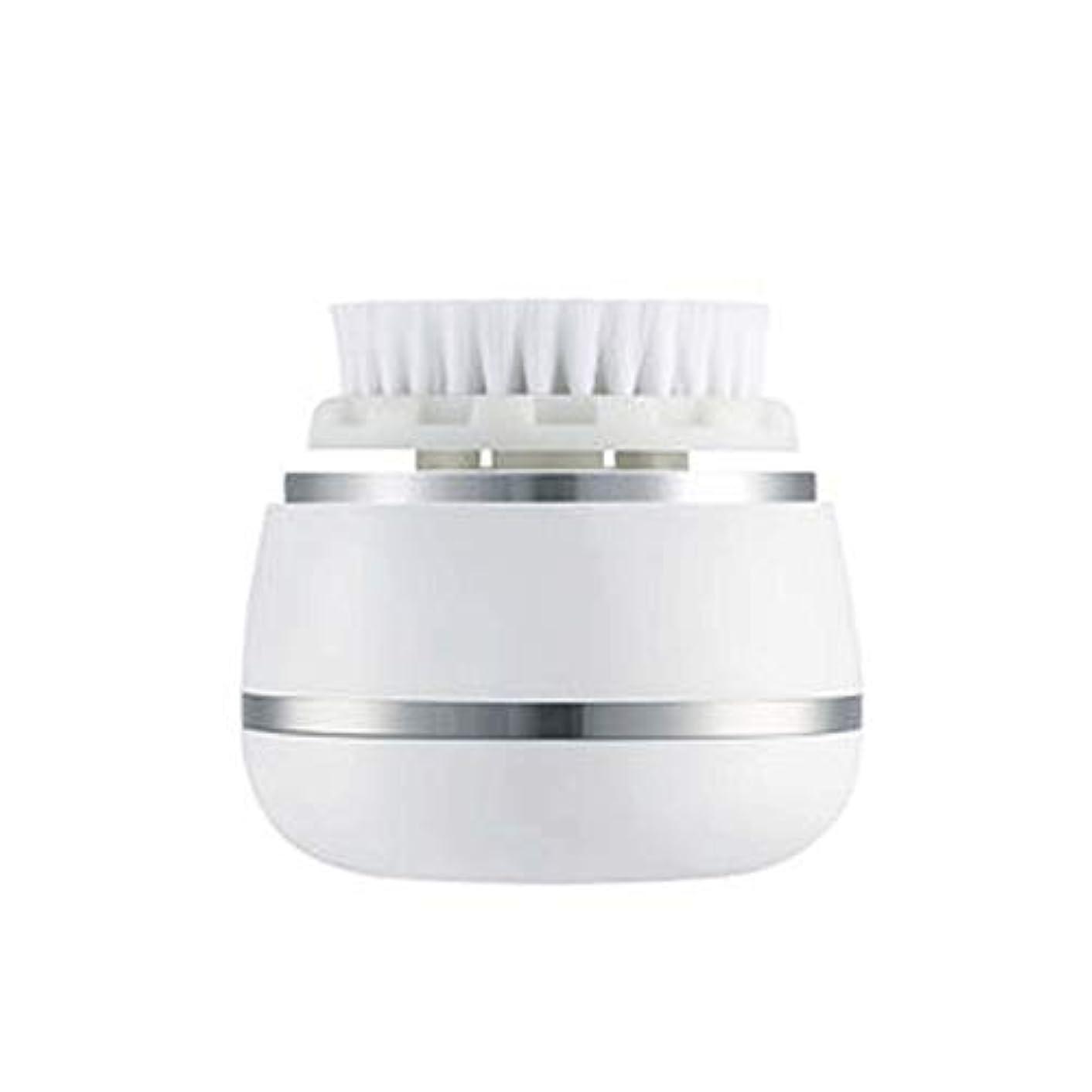 歯質素な不信HEHUIHUI- クレンジングブラシ、防水ディープクレンジングポア、電気剥離、にきび、アンチエイジングクレンジングブラシ(ホワイト)