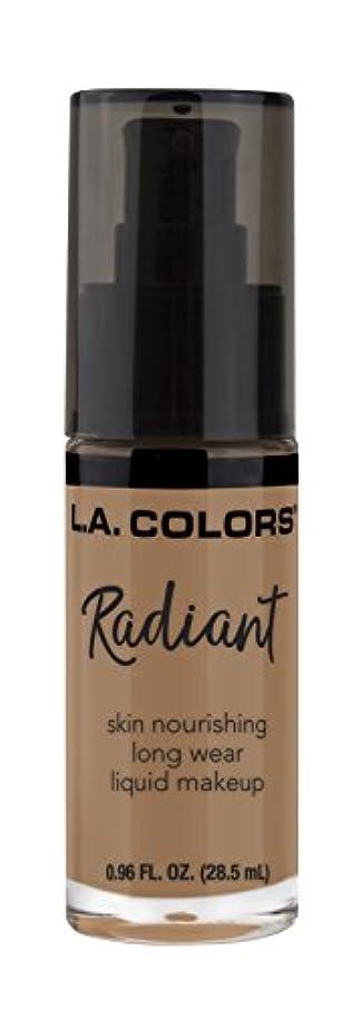メンタル切る入るL.A. COLORS Radiant Liquid Makeup - Creamy Cafe (並行輸入品)