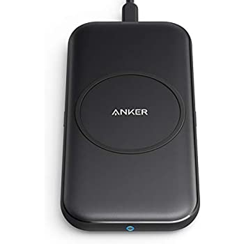 Anker PowerWave Base Pad ワイヤレス充電器 Qi 認証 iPhone Samsung Galaxy LG 互換対応 ブラック