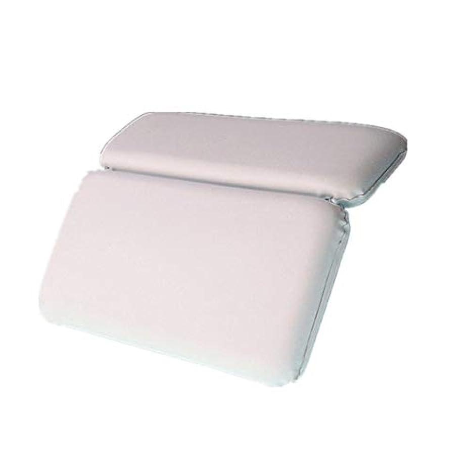 専門用語厳密に帰る浴槽枕 バックサポートを緩和6チャックスリップバス製品のスパバスヘッドレストクッションと首のサポート バスルーム枕 (色 : 白, サイズ : 36.8 x 28cm)