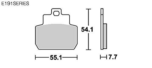 SBS ブレーキパッド E191 セラミック ジレラ ピアジオベスパ 等 777-0191000