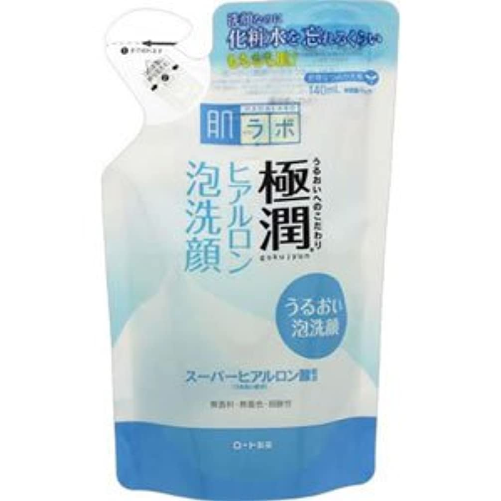 航海の品利益(ロート製薬)肌研 極潤ヒアルロン泡洗顔 140ml(つめかえ用)(お買い得3個セット)