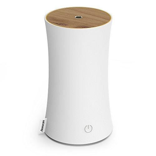 アロマディフューザー 卓上加湿器 センサー付き 超音波式 空焚き防止 低騒音 300ml 連続運転 各場所用 省エネ 白