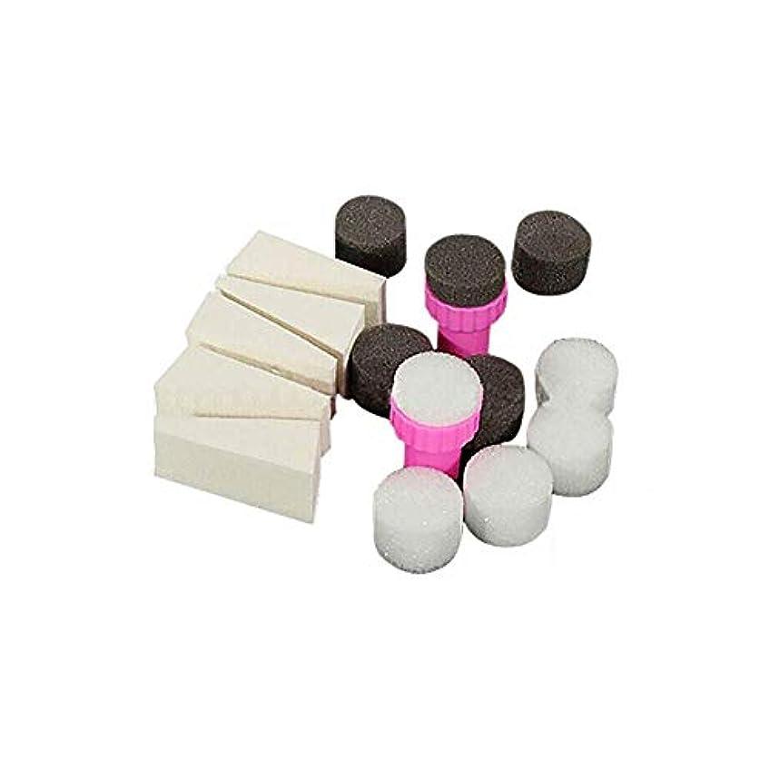 障害者分子ブロンズOnior ネイルアートグラデーションスポンジスタンプトライアングルシェード転写テンプレートポリッシュスタンピングマニキュアツール丈夫で実用的