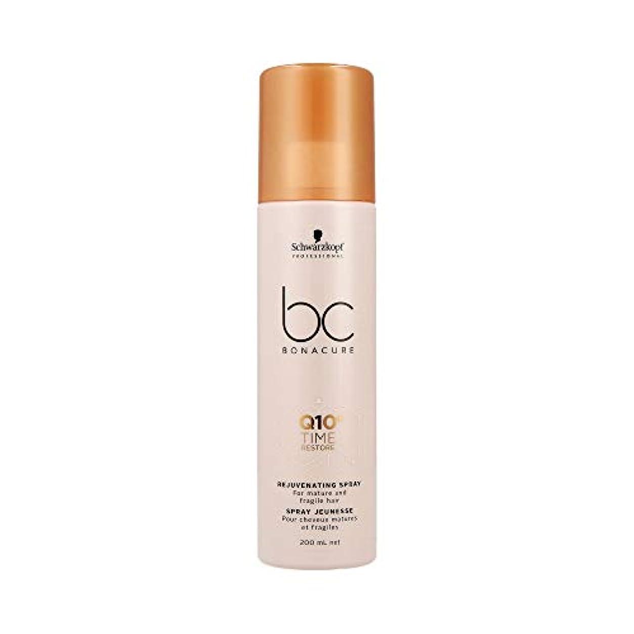 副産物ジャンプコモランマシュワルツコフ BC Q10+ タイム リストア リジュヴェネイティング スプレー Schwarzkopf BC Bonacure Q10+ Time Restore Rejuvenating Spray For Mature And Fragile Hair 200 ml [並行輸入品]